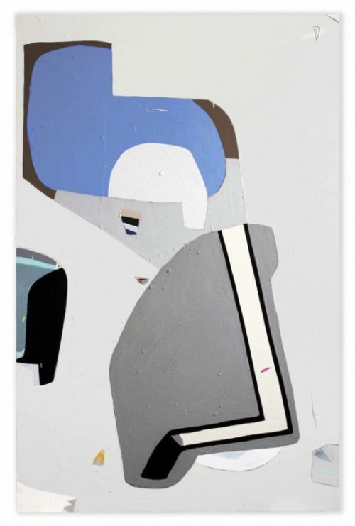 <i>Cream In My Bones</i><br>Acrylic on canvas<br>72 x 47 inches <br> 2012