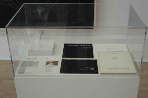 Selection of books and ephemera by Stanley Brouwn