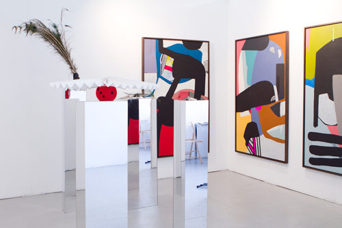 Installation view<br> Hayal Pozanti and Susanne M. Winterling.