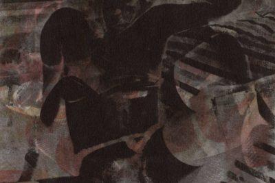 Robert Heinecken<br> Mademoiselles Dark<br> Offset lithograph<br> 9 × 9 inches<br> Edition 9/10<br> 1961