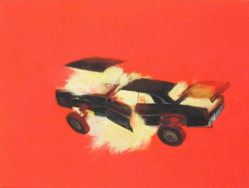 <i>Starksky and Hutch V</i><br>Acrylic on canvas<br> 13 x 19 inches<br> 2006