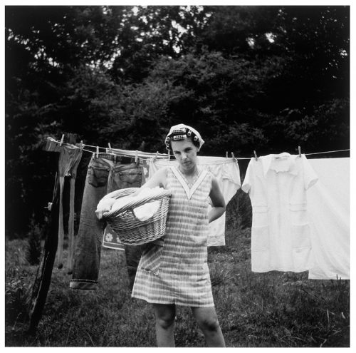 <i> Untitled (On Becoming: Billy + Katie 1964 #6) </i> <br> Silver gelatin print <br> 24 x 20 inches <br> 1998