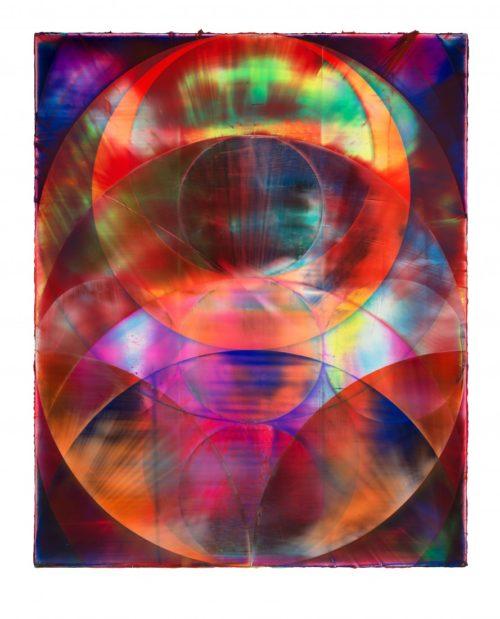 <i>Orb (Dragon)</i><br>Acrylic on canvas<br>82 x 67 inches<br>2014