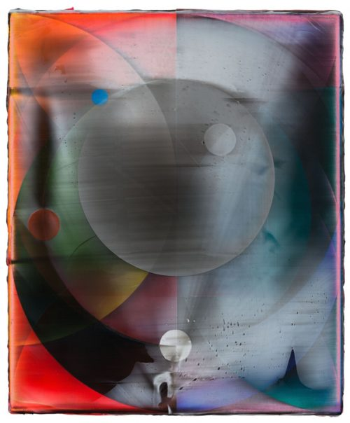 <i>Orb (Planetary)</i><br>Acrylic on canvas<br>18 x 15 inches<br>2014