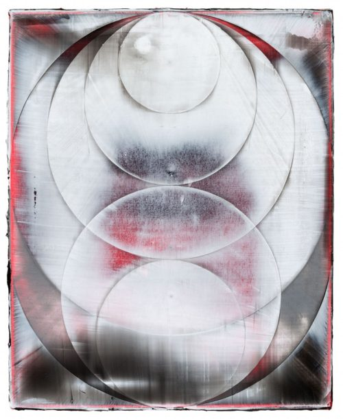 <i>Orb (Revolver)</i><br>Acrylic on canvas<br>23 x 19 inches<br>2014