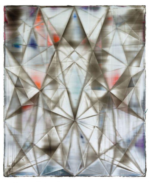 <i>Rhombus (Geiger)</i><br>Acrylic on canvas<br>67 x 55 inches<br>2014