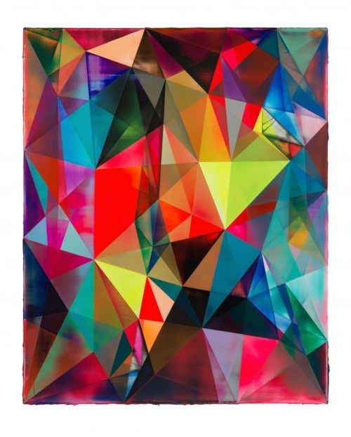 <i>Rhombus (Nude)</i><br>Acrylic on canvas<br>82 x 67 inches<br>2014