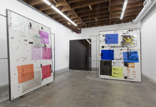 The <i>Great Train Robbery (Scene 3 version A)</i><br>Installation view<br>LAXART, Los Angeles, CA<br>2013