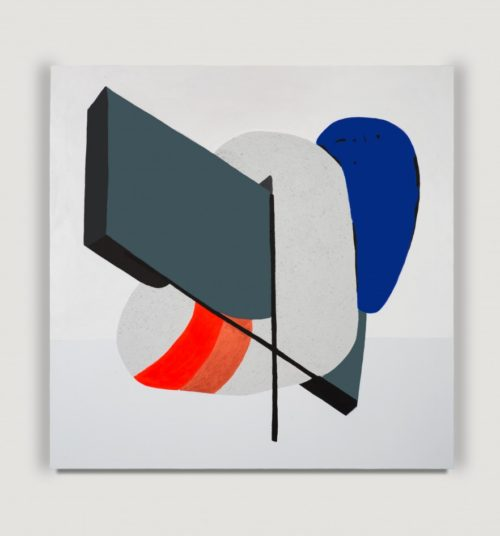 <i>Data Double</i><br>Acrylic on wood panel<br>40 x 40 inches <br> 2014