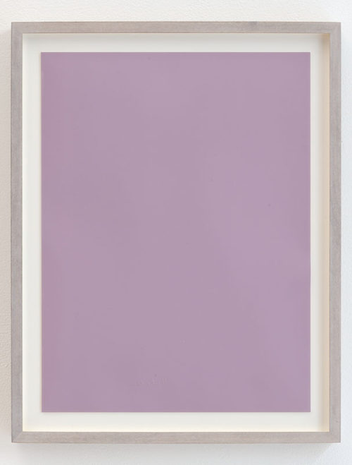 <i>Untitled (Skin too thin, light to violet N.II)</i><br>Imprint of handwriting on photographic paper<br>19 x 15 inches<br>2012<br>Unique