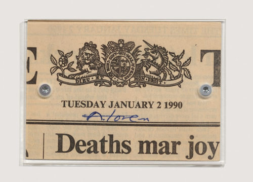 Of the Times - Tuesday January 2 1990<br>Details