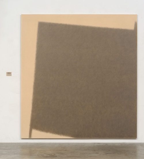 Of the Times - Friday July 30 1993<br>Pulped newspaper and PVA on canvas, paper and card<br>92.5 x 86.6 inches<br>1993
