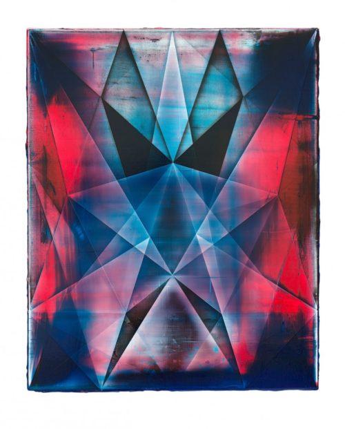 <i>The Galaxy Tonight</i><br>Acrylic on canvas<br>33 x 23.5 inches<br>2012