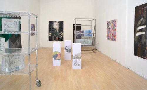 """Digital Infinity""<br>Installation view, Jessica Silverman Gallery, 2013"
