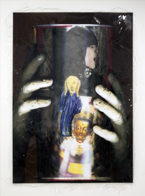 Lucie Stahl<br>The Nausea<br>Archival inkjet print, UV-lack, polyurethane<br>69 1/2 x 49 1/2 inches<br>2012