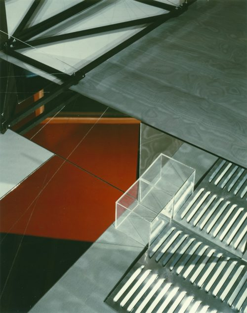 Barbara Kasten<br> <i>Construct III-CB</i><br>Polacolor<br>10 x 8 inches<br>1980<br>Edition:  AP
