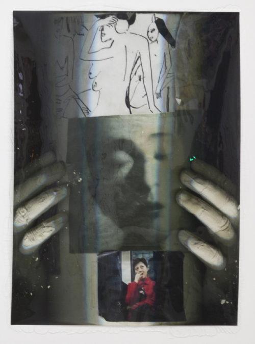 Lucie Stahl<br>Surveillance<br>Archival inkjet print, UV-lack, polyurethane<br>69 1/2 x 49 1/2 inches<br>2012
