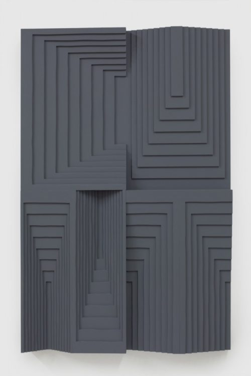 Julian Hoeber<br>Cunt, 2013<br>Latex enamel on laminated plywood<br>42 x 27 x 2  3/4 inches