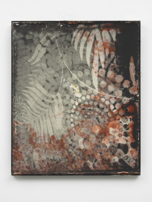 <i>MGM</i><br>Silkscreen on wax in welded steel tray<br>23.6 x 19.7 x 1 inches<br>2013