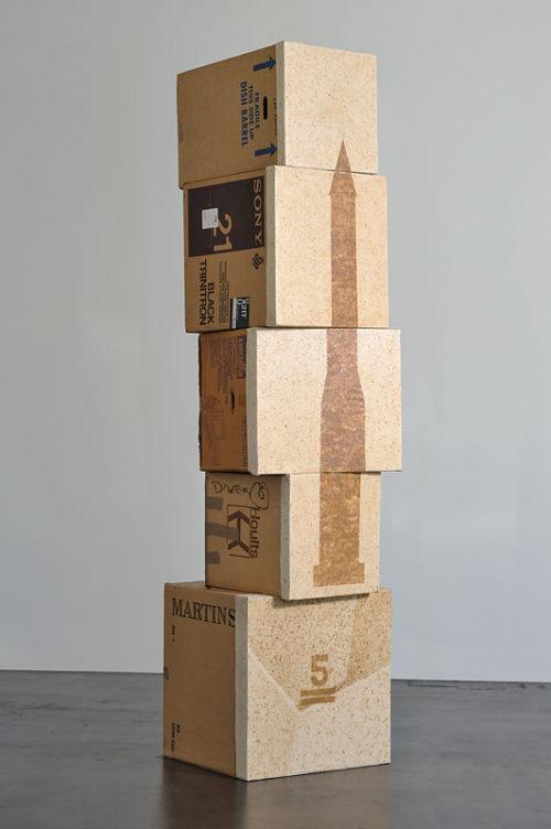 <i>Stacks (Five Only)</i><br>Cardboard<br>Variable dimensions<br>1992-1995
