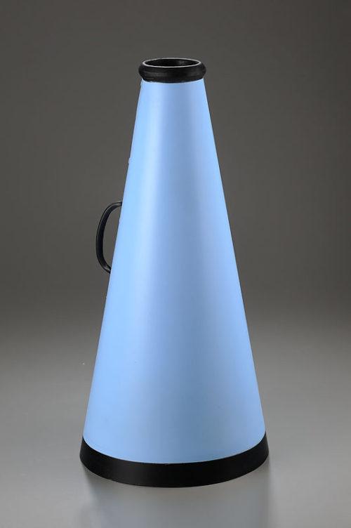 <i>Mime 1</i><br>Aluminum, ceramic, paint, cast<br>18.5  x 9 x 9 inches<br>2013