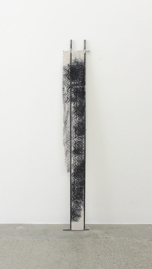 <i>Untitled</i><br>Steel, jesmonite and dye<br>71 1/2 x 9 1/4 inches<br>2014<br>RO_D02
