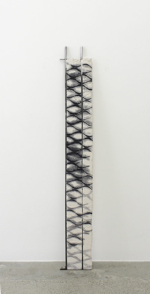 <i>Untitled</i><br>Steel, jesmonite and dye<br>71 1/2 x 9 1/4 inches<br>2014<br>RO_D04