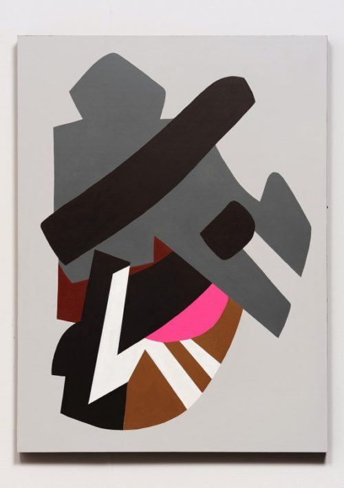 Hayal Pozanti<br>First Spectrum Spool, 2013<br>Acrylic on wood panel<br>48 x 36 inches