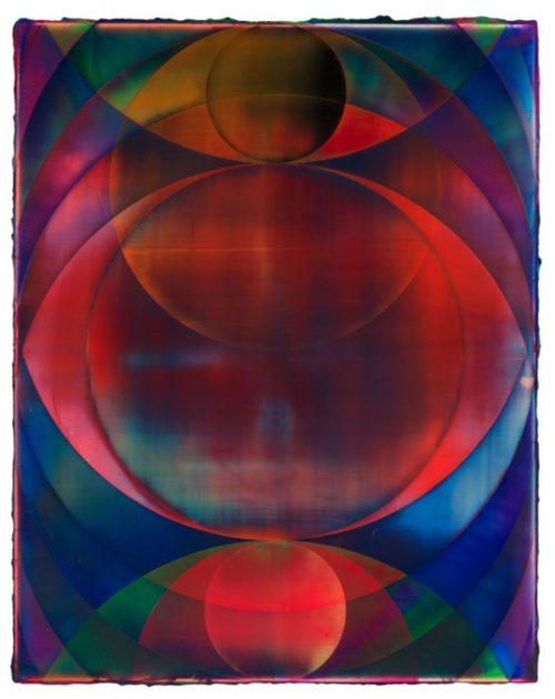 Shannon Finley<br><i>Orb (Galaxy Eye)</i><br>Acrylic on canvas<br>55 x 43 inches<br>2014