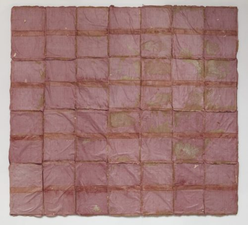 Samuel Levi Jones<br><i>Curtain Wrap</i><br>Mixed media on canvas<br>55 x 60 inches<br>2014