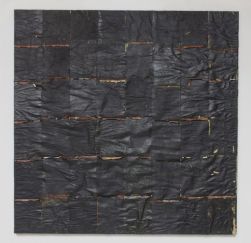 Samuel Levi Jones<br><i>Tar Baby</i><br>Mixed media on canvas<br>62 x 62 inches<br>2014