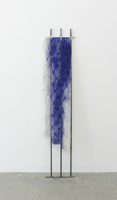 <i>Untitled (RO_C08)</i><br>Steel, jesmonite and dye<br>71 1/2 x 13 inches<br>2014<br>