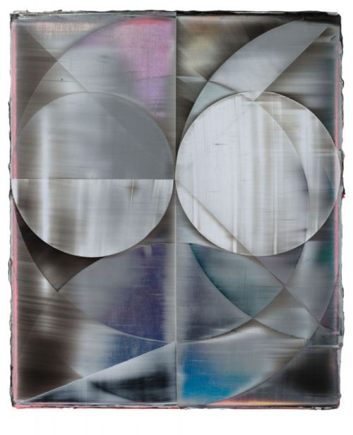 Shannon Finley<br><i>Orb (Looking Glass)</i><br>Acrylic on canvas<br>18 x 15 inches<br>2014