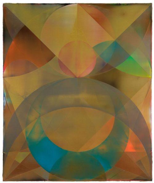 Shannon Finley<br><i>Orb (Cascade)</i><br>Acrylic on canvas<br>71 x 59 inches<br>2014