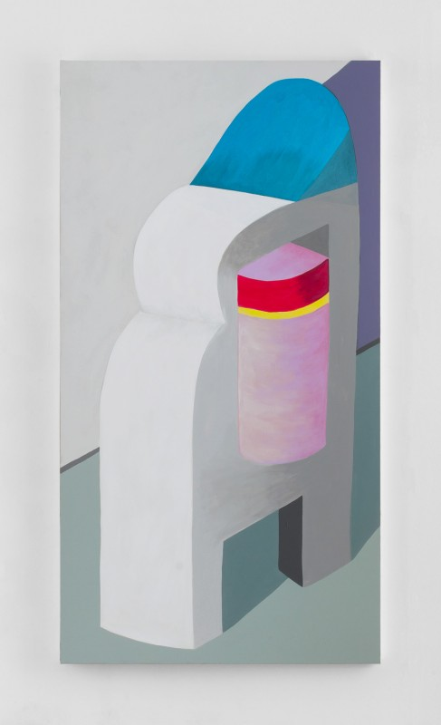 Hayal Pozanti<br><i> Neopoints</i><br>Acrylic on canvas<br>74 x 40 inches<br>2014