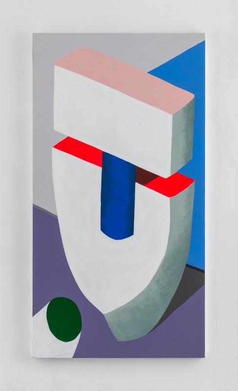 Hayal Pozanti<br><i> Masters of Suspicion</i><br>Acrylic on canvas<br>74 x 40 inches<br>2014