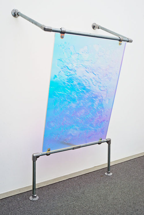 <i>Texture Map (Normal) (H01)</i><br>Polyurethane on lenticular lens, optical PET film, Plexiglas, steel wall mount<br>Dimensions variable; panel 46 1/2 x 34 1/2 inches<br>2014