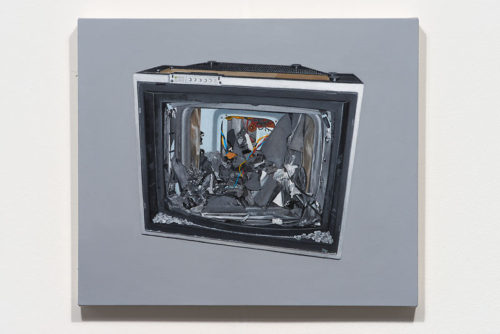 Luke Butler<br> <i>Television II</i><br>Acrylic on canvas<br>22 x 26 inches<br>2014