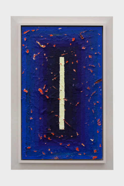 <i>Blue Wound</i><br>Acrylic on linen<br>40 1/8 x 24 1/16 inches<br>2013