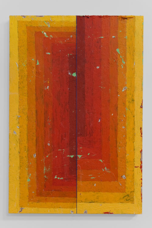 <i>Execution Changes #24 (VS Q1 MRJ DC Q2 ULJ DC)</i><br>Acrylic and string on panel<br>43 1/8 x 31 1/8 <br>2011