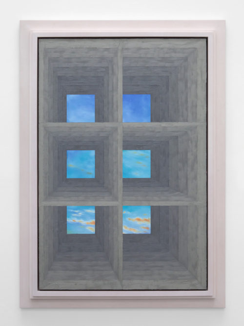 <i>Six Window</i><br>Oil on linen<br>62 3/4 x 44 7/8 inches<br>2014