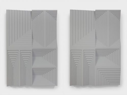 <i>LIMB/LIMP</i><br>Latex enamel on laminated plywood<br>36 x 24 x 4 inches each panel<br>2015