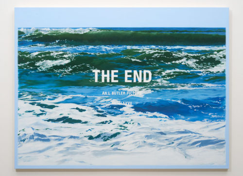 Luke Butler<br><i>The End XXIII</i>, 2016<br>Acrylic on canvas<br>72 x 54 inches<br> <br>
