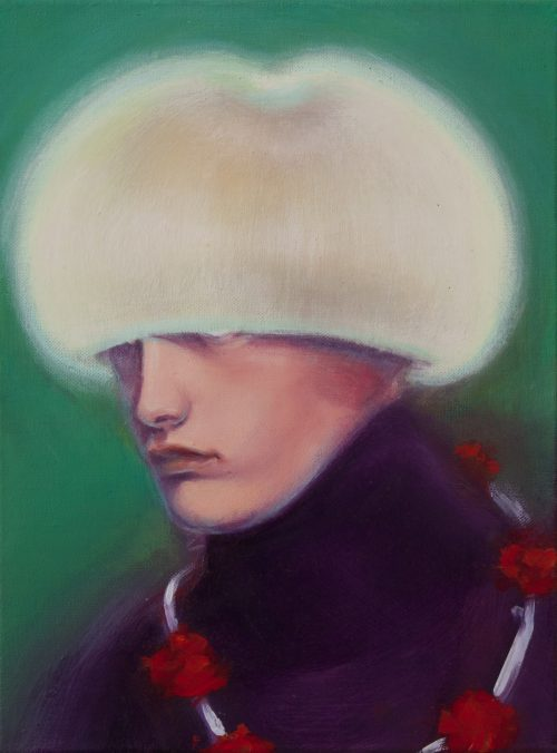 Kenneth Bergfeld<br> <i>Androgynous Angel</i>, 2015<br> Oil on canvas<br> 15.6 x 11.75 inches / 40 x 30 cm