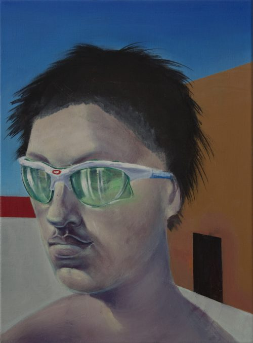 Kenneth Bergfeld<br> <i>The Nonconformists Memorial</i>, 2015<br> Oil on canvas<br> 15.6 x 11.75 inches / 40 x 30 cm