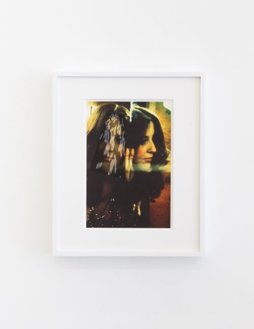 Lynn Hershman Leeson<br> <i>Portrait with Aging Gene</i>, 2016<br> Edition 1 of 6<br> Archival digital print<br> Image size: 11 x 8.5 inches / 27.9 x 21.6 cm<br> Framed size: 14.5 x 12 inches / 36.8 x 30.5 cm