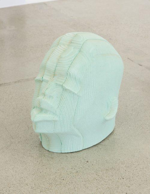Matthew Angelo Harrison <br> <i>Head 1 (Post-Chronology series)</i>, 2016<br> Open-cell polyurethane foam <br> 20 x 17 x 12 inches / 50.8 x 43.2 x 30.5 cm