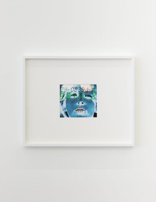 Lynn Hershman Leeson<br> <i>Identity Cyborg</i>, 1986<br> Edition 1 of 3<br> Archival digital print<br> Image size: 6 x 7 inches / 15.2 x 17.8 cm<br> Framed size: 16.75 x 20.75 inches / 42.5 x 52.7 cm