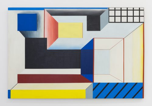 <i>Portal 1</i>, 1967<br> Acrylic on shaped masonite<br> 44.5 x 66 inches / 113 x 167.6 cm