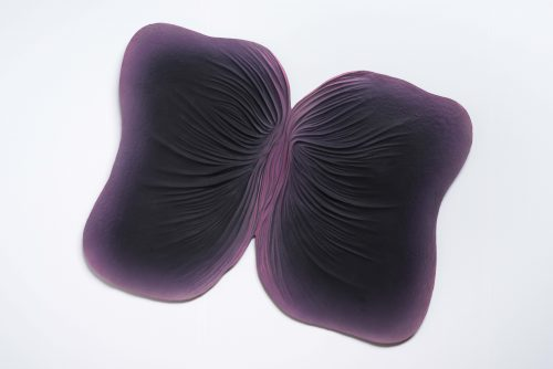 Judy Chicago<br><i>Submerged/Emerged #3</i>, 1976/2005<br>Sprayed acrylic on cast paper<br>34 x 44 inches